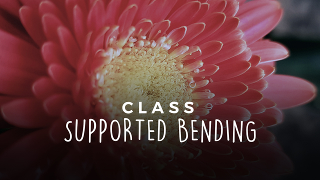 Supported bending